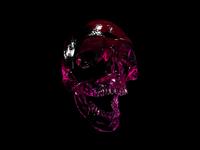 Flowfield test designer ui dark art render redshift xparticles crislabno 90 skull cinema4d c4d 3d