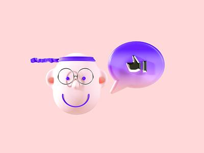 Flux Academy: Mentorship character clean keyvisual ux ui illustration c4d render design 3d crislabno