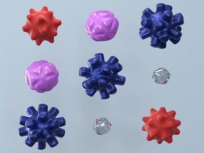 Biotech Motion Key Visual biotech business aesthetics minimal illustration c4d render design 3d crislabno