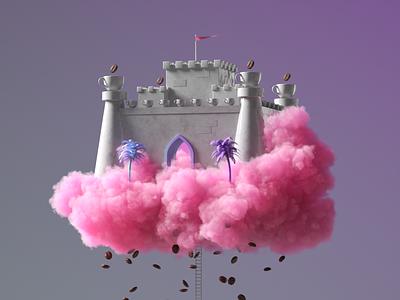 Coffee Kingdom branding c4d render illustration design 3d crislabno