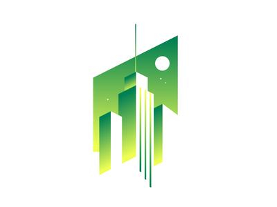 City never sleeps // icon city illustration logo icon crislabno