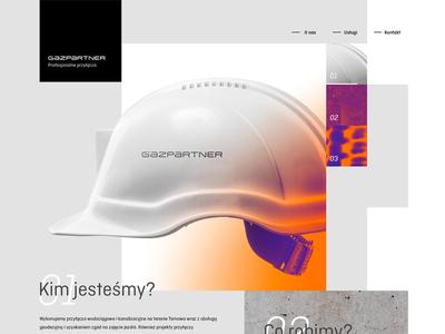 Gazpartner website // Sneak peek ux ui web design webdesign gazpartner crislabno