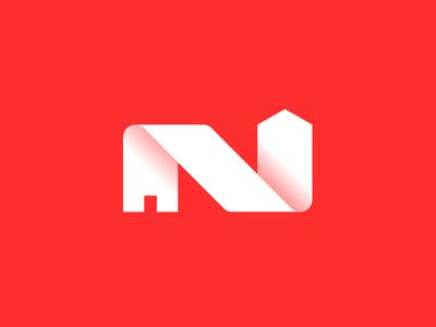 Rejected logo serie: N construction logo smart mark crislabno