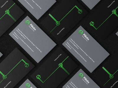Pitlabs // business cards bc businesscards typography mark logo