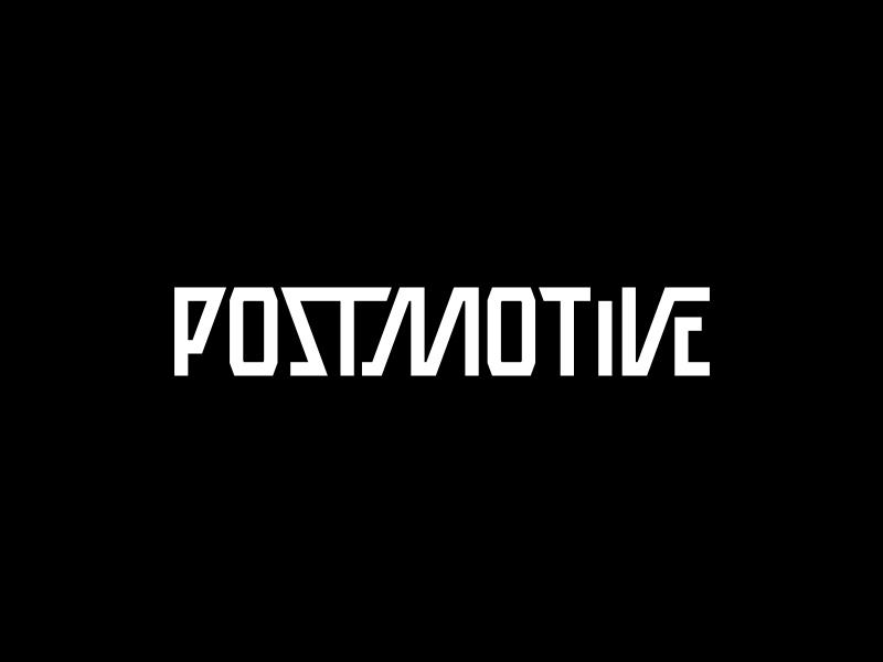 POSTMOTIVE typo typography wordmark logotype logo crislabno