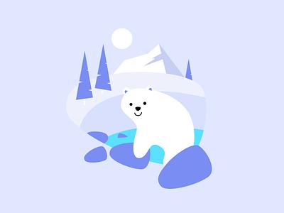 HB illustrations series: Polar winter polarbear bear illustration design figma illustration vector design crislabno
