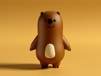 Hungri modelling redshift cinema4d c4d character brandhero toy bear 3d