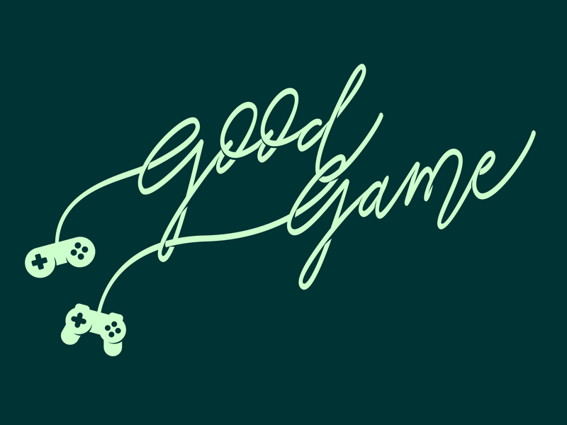 Good game branding game calligraphy design typography vector lettering calligraphy and lettering artist