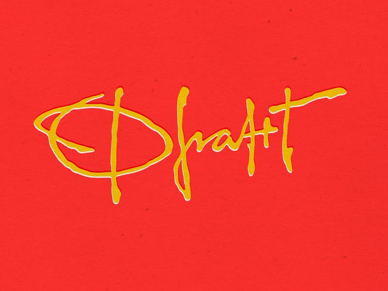 Frant logo branding expressive vector hand lettering calligraphy logo design typography lettering