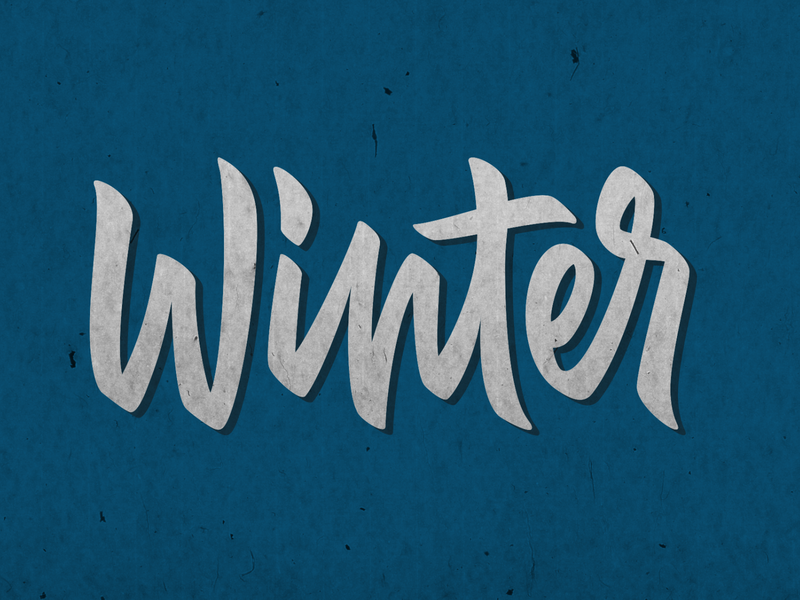 winter calligraphy calligraphy and lettering artist typography vector logo design lettering