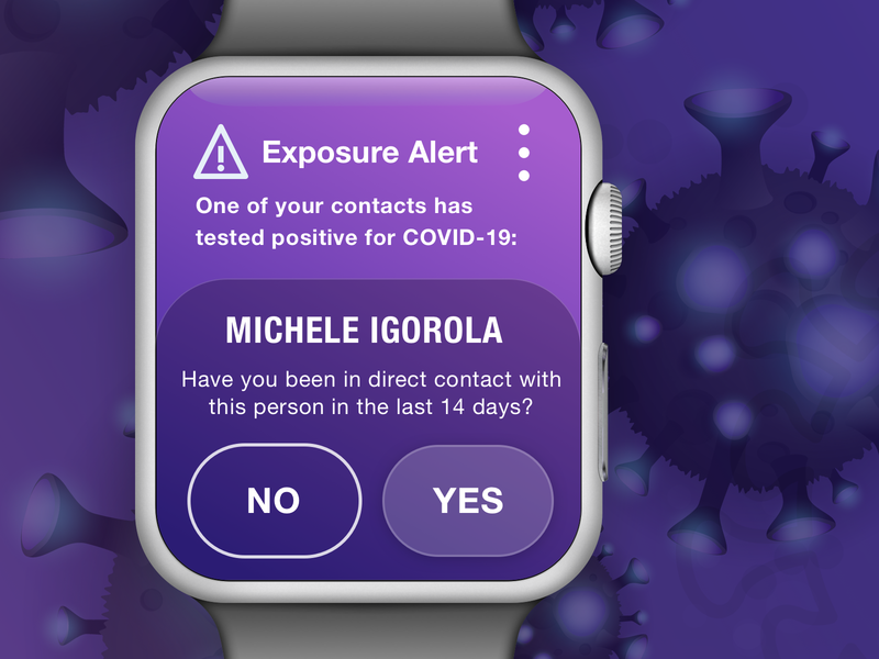 COVID-19 Exposure Alerts Watch App Concept