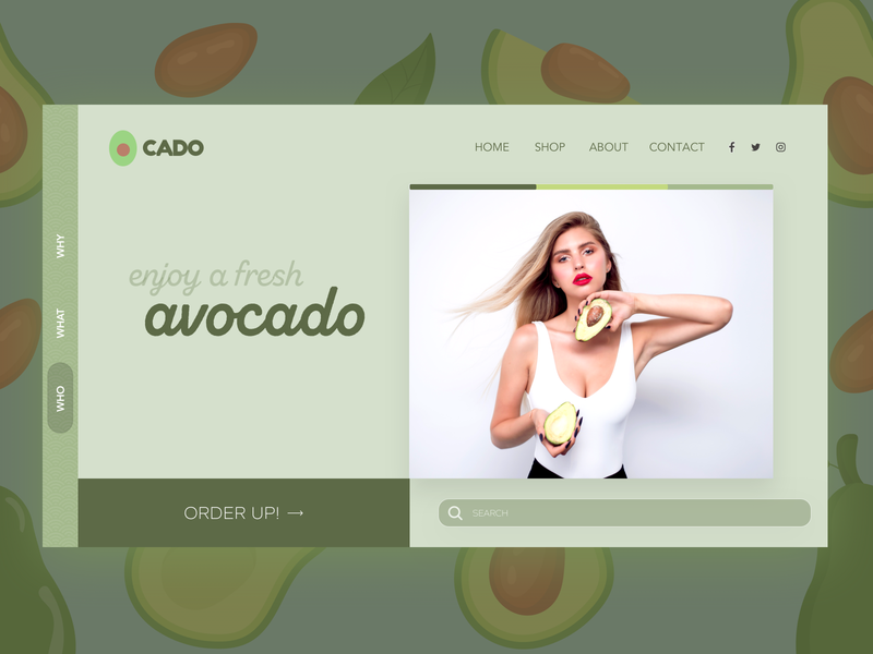Cado - Avocado Ordering Landing Page Design