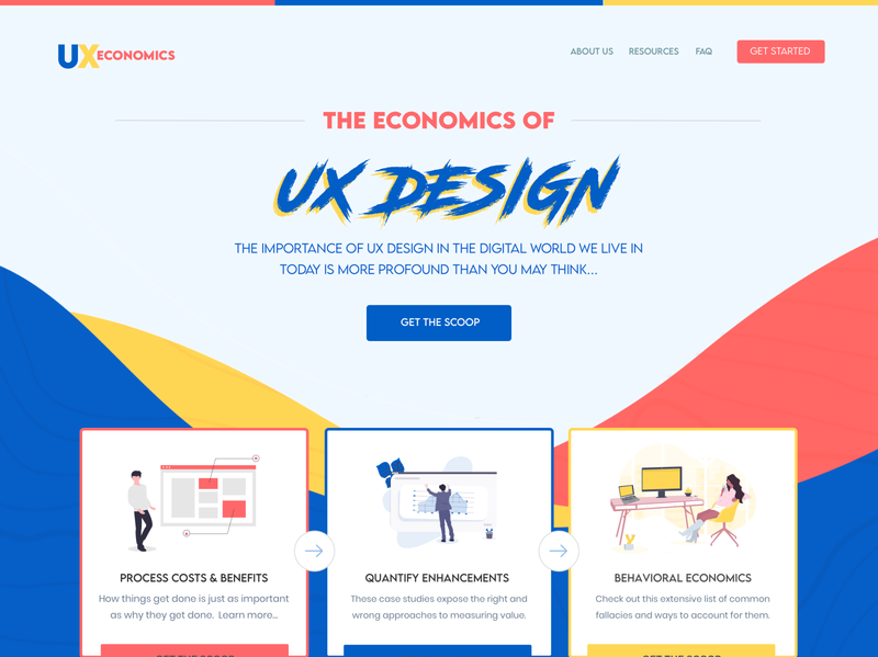 UX Economics Homepage Layout Design