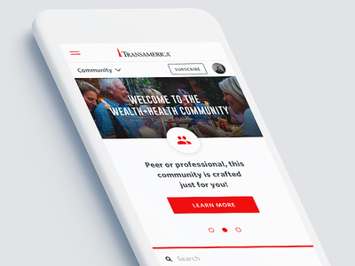 Transamerica Wealth+Health Community Site Re-design
