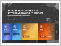 Cryptocurrency Web UI w/ Horizontal Menu & Dark header