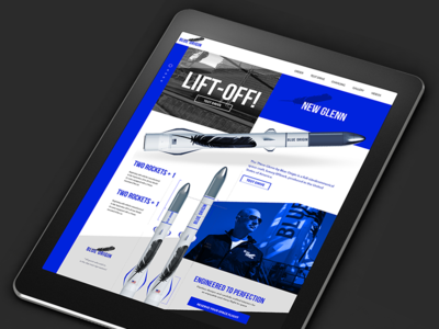 Modern Commercial Rocket Co.-  Blue Origin Landing Page Concept
