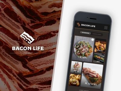 BACON LIFE - Mobile UI Concept