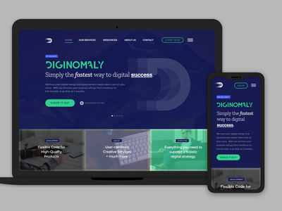 Diginomoly Round 1 Homepage Designs