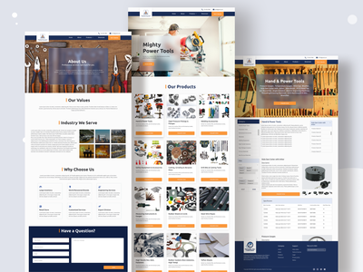 Hardware and Tools Business Website Design web design website design web ui uiux uiux design ui design