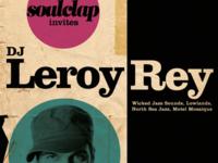 Soulclap Poster for DJ Leroy Rey