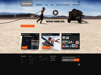 Amando website and visuals