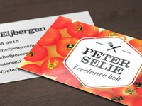 Peter Selie Freelance Businesscards