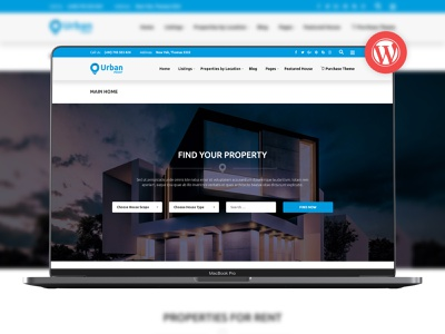 UrbanPoint - House Selling & Rental WordPress Theme wpml responsive realtor real estate property house selling house rental house homes google maps clean business apartment advanced search