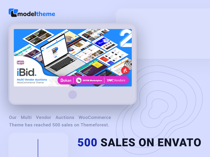 500 Sales for iBid WordPress Theme envato template website business auctions wordpress theme themeforest wordpress auction