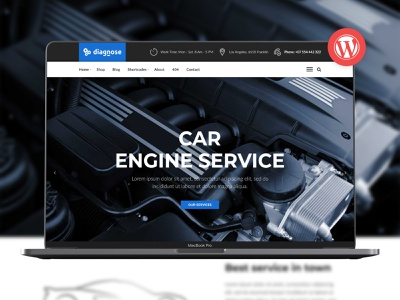 Diagnose - Auto Repair | Mechanic | Workshop WordPress Theme mechanic workshop mechanic gutenberg gear car wash car repair shop car mechanic car maintenance body shop auto repair auto care