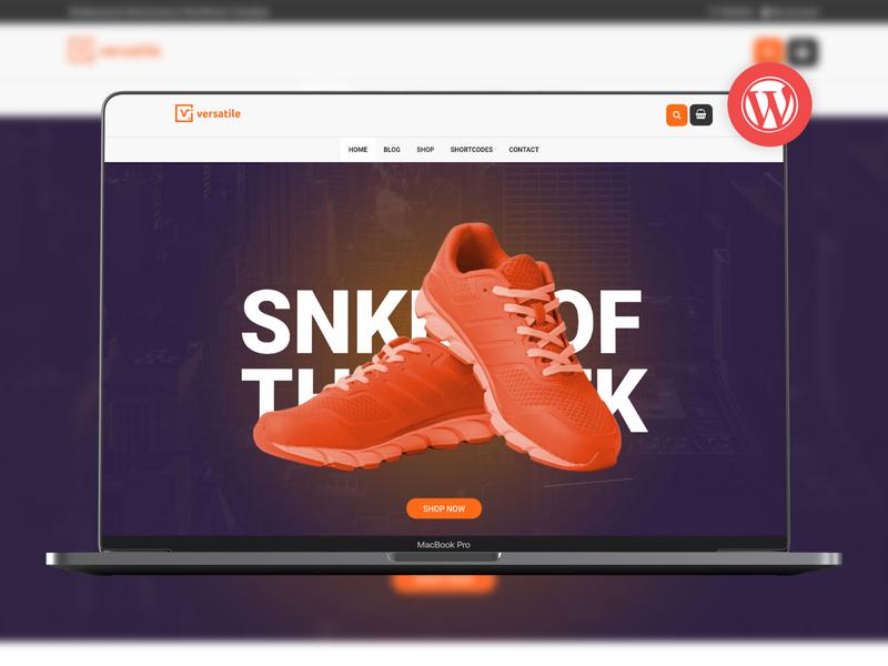 Versatile - Multipurpose WooCommerce WordPress Theme web design responsive product personal page builder multi page modern modeltheme landing page freelancer creative business agency