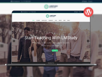 LMStudy - Course / Learning / Education LMS WooCommerce Theme wordpress theme university techer school responsive gallery events calendar events elearning courses