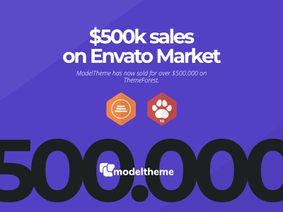 $500k sales achievement on ThemeForest sale wordpress theme wordpress themes envatomarket elite author sales wordpress theme envato themeforest