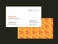 axle business cards