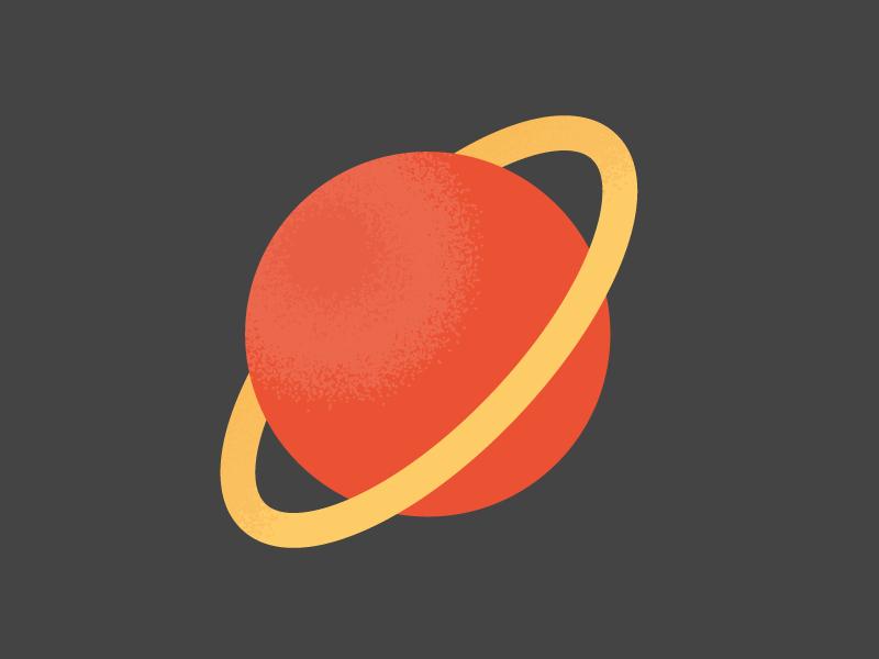 Almost Saturn techstars mobile branding phone startup space lunar spot illustration
