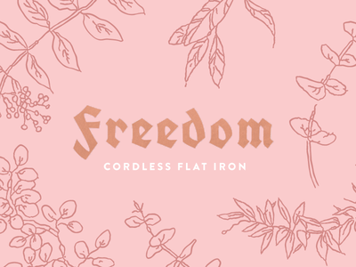 Freedom Flat Iron Packaging branding design fraktur packaging hair products beauty