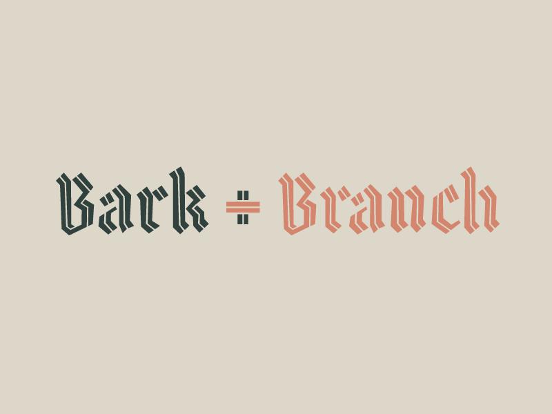 bark + branch dogs branding logo