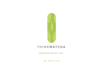 Thinkmatcha Minimal Direction tea packaging branding flat