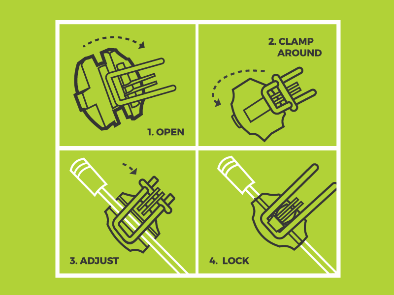 shocklock instructions wip auto parts packaging instructional illustration