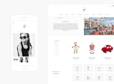 Lifestyle e-commerc design