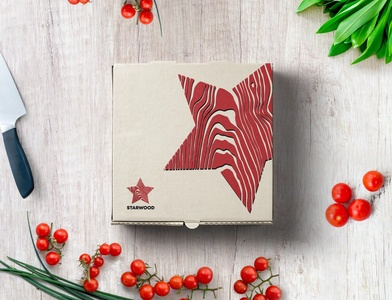Pizza Box Starwood adobe photoshop adobe illustrator photoshop flat illustration identity design vector branding logo drawing ui design