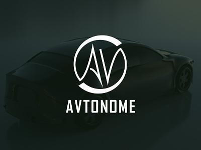 Driverless car logo dailylogochallenge typography vector avtonome car logo branding illustration design
