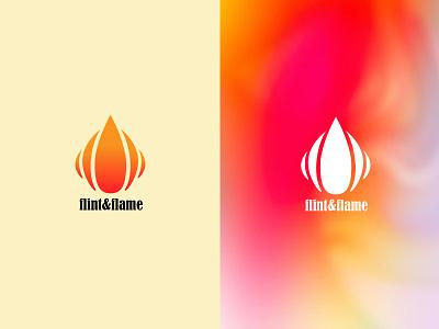 Flame logo flame logo fire brand typography minimal illustration vector logo design dailylogochallenge branding