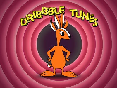 Looney tunes dribbble rabbit for NVDIA playoff playoff cartoon character rabbit debut rebout dribbble vector illustration logo design