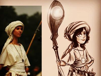 arabian character design