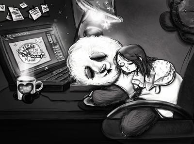 character sleeping