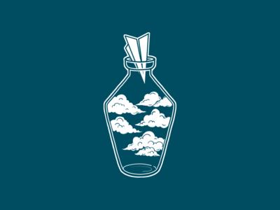 Clouds bottle