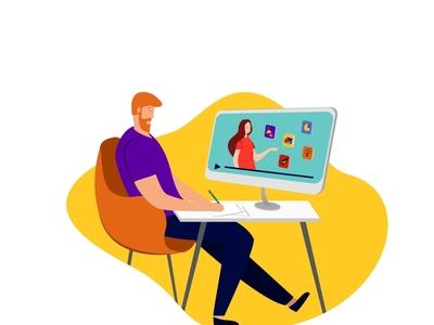 Illustration for educational platform