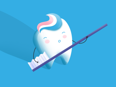 Funny character for pediatric dental office