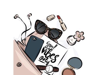 Illustration for fashion magazine