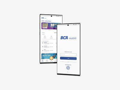 Redesign BCA Mobile minimal flat ui ux redesign mobile design banking app